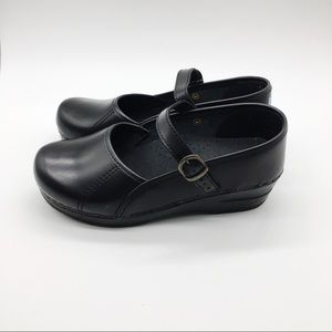 Sanita Black Mary Jane Clogs Size 36